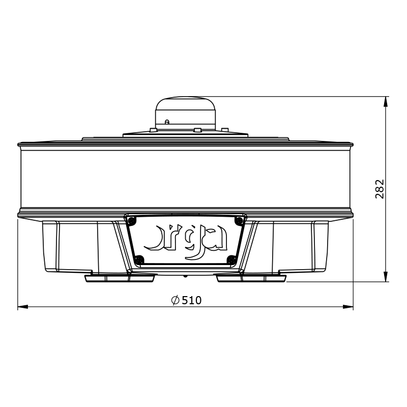 Orga Aviation – Datasheet Drawing – L500 – 50Kcd – rP00 (front)