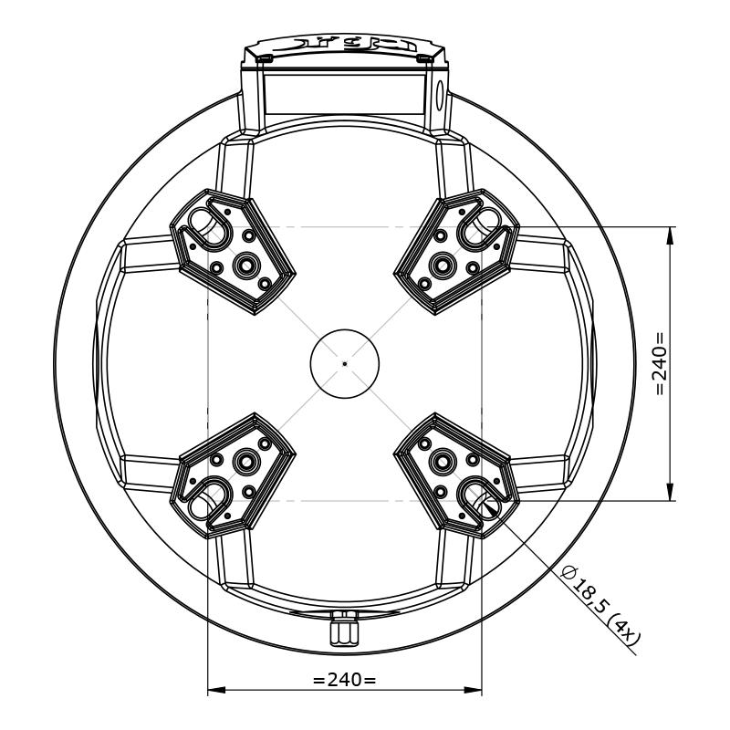 Orga Aviation – Datasheet Drawing – L500 – 50Kcd – rP00 (top)