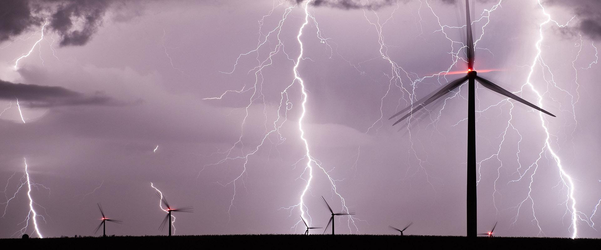 windturbines lightning