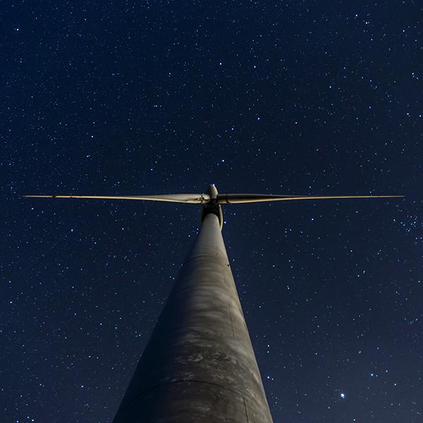 Turbine at night